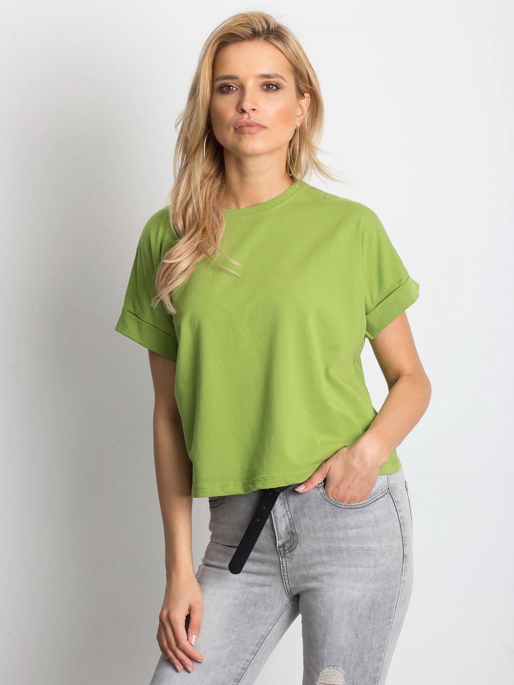 Zielony luźny t-shirt Blink 1