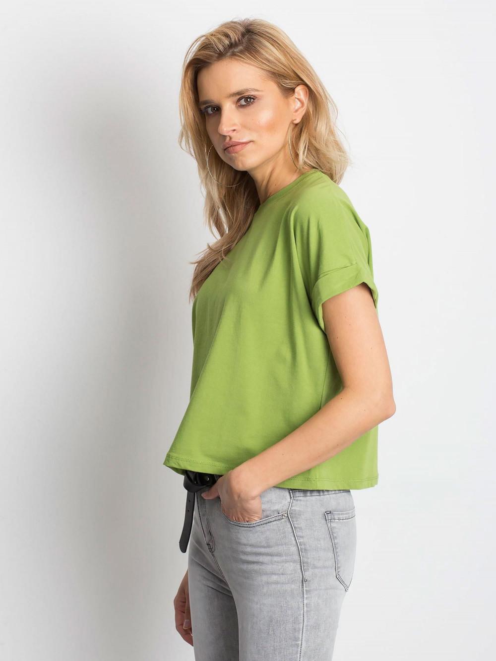Zielony luźny t-shirt Blink 2