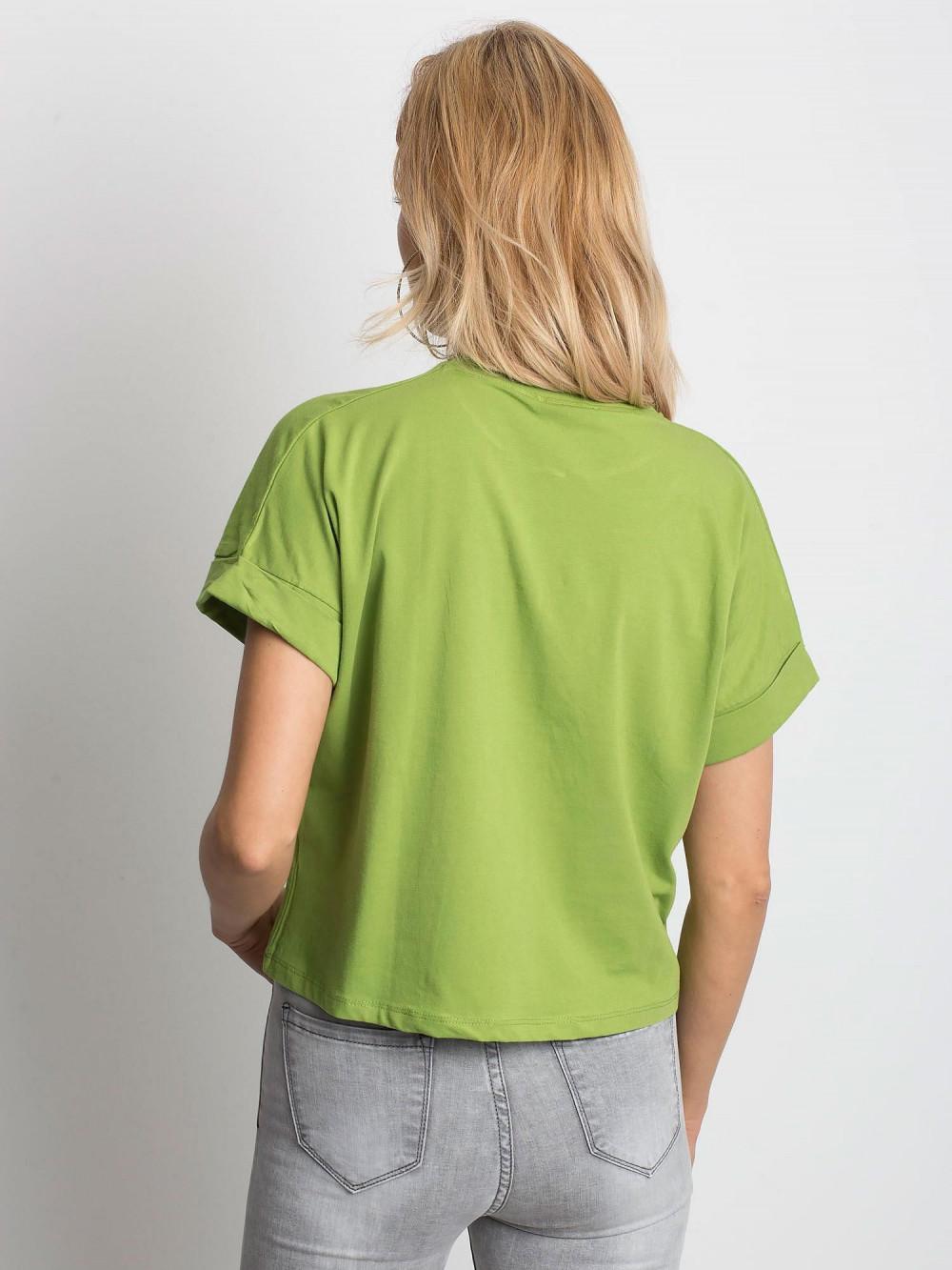 Zielony luźny t-shirt Blink 4