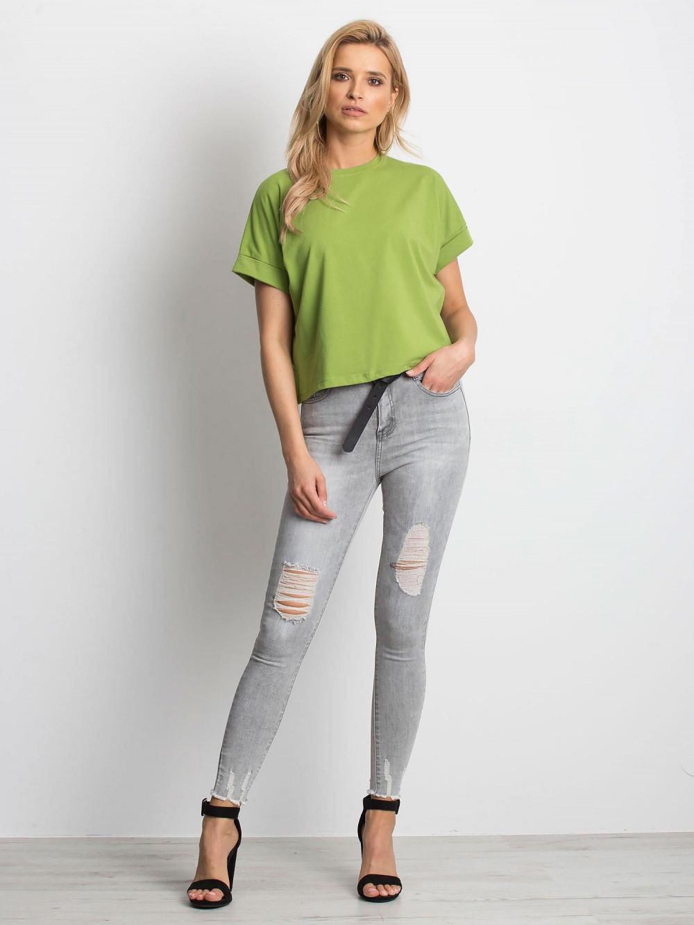 Zielony luźny t-shirt Blink 3