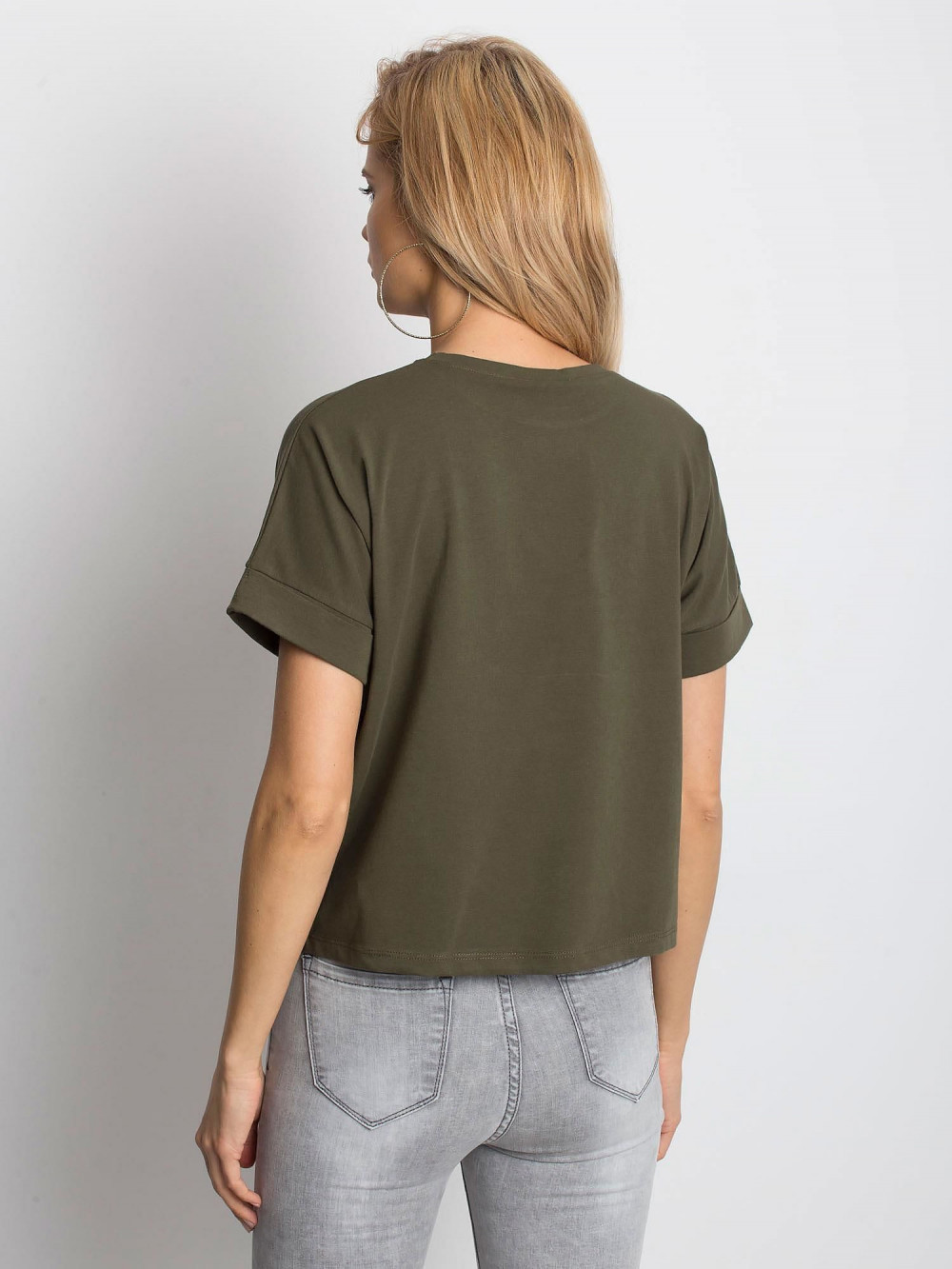 Khaki luźny t-shirt Blink 4