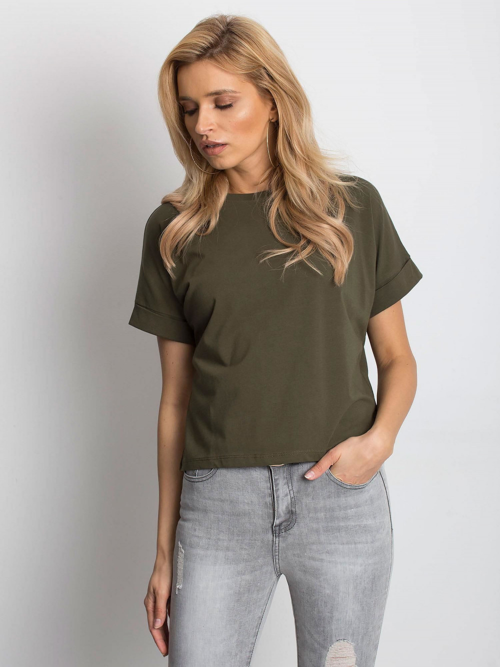 Khaki luźny t-shirt Blink 1