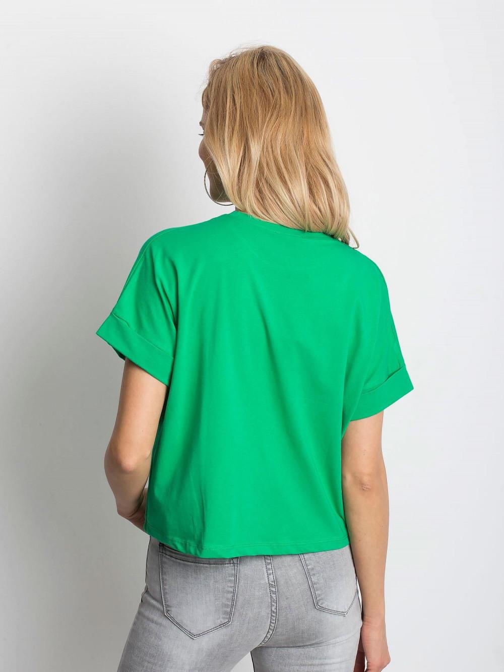 Ciemnozielony luźny t-shirt Blink 4