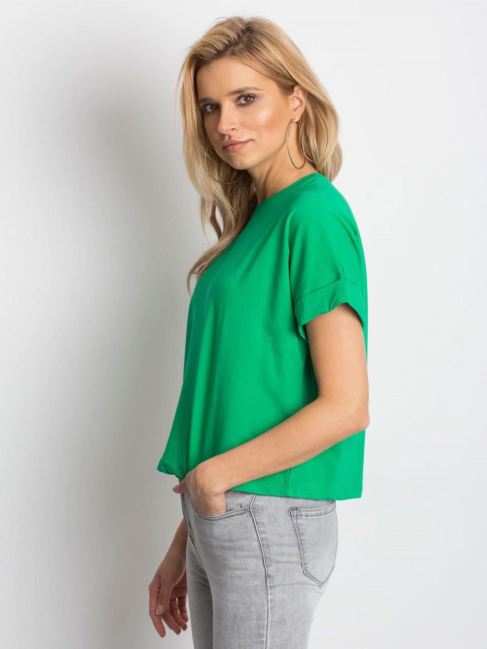 Ciemnozielony luźny t-shirt Blink 2
