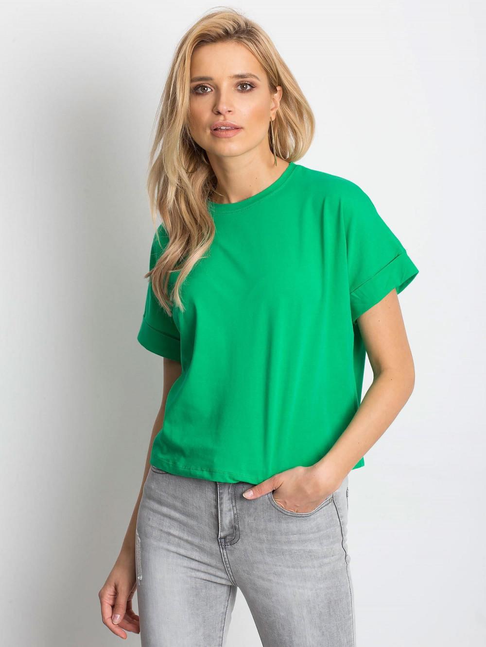 Ciemnozielony luźny t-shirt Blink 1