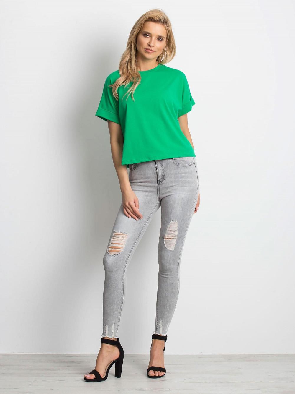 Ciemnozielony luźny t-shirt Blink 3