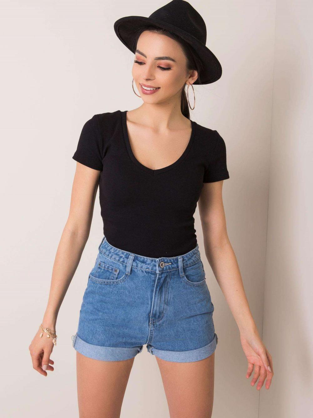 Czarny prążkowany t-shirt Better 1
