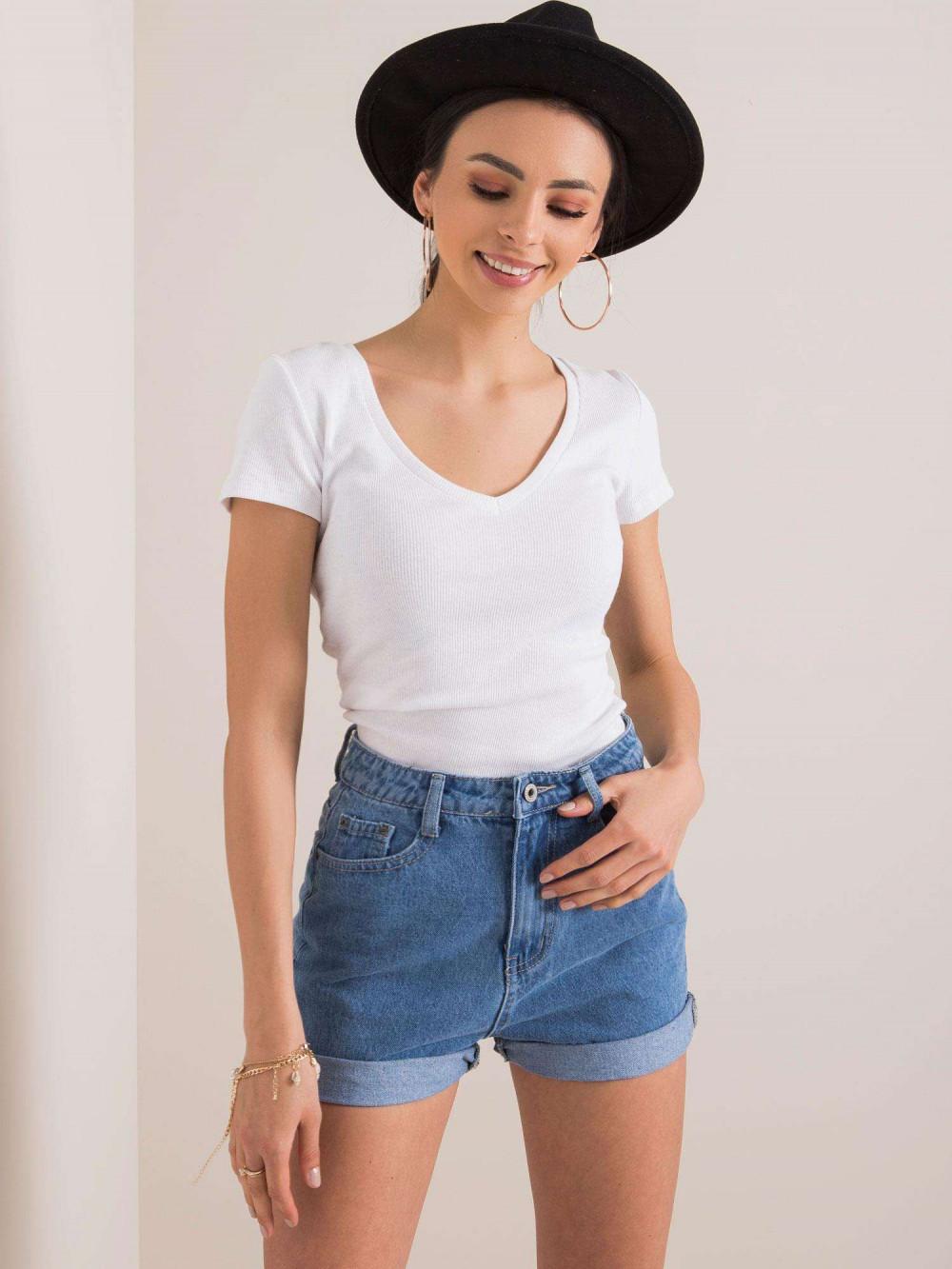 Biały prążkowany t-shirt Better 1