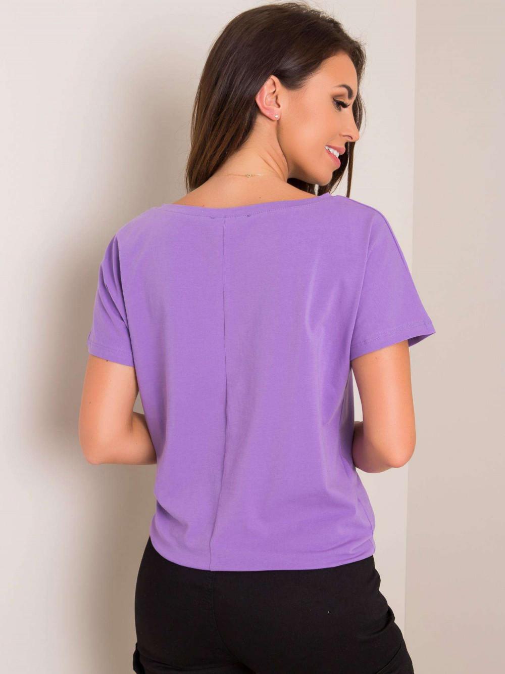 Fioletowy t-shirt z wiązaniem Faso 2