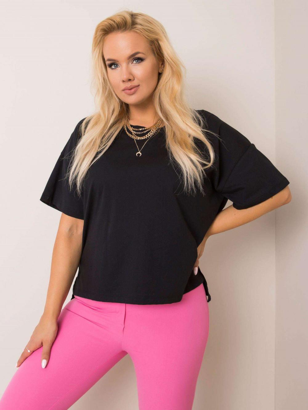 Czarny t-shirt plus size Wish 1