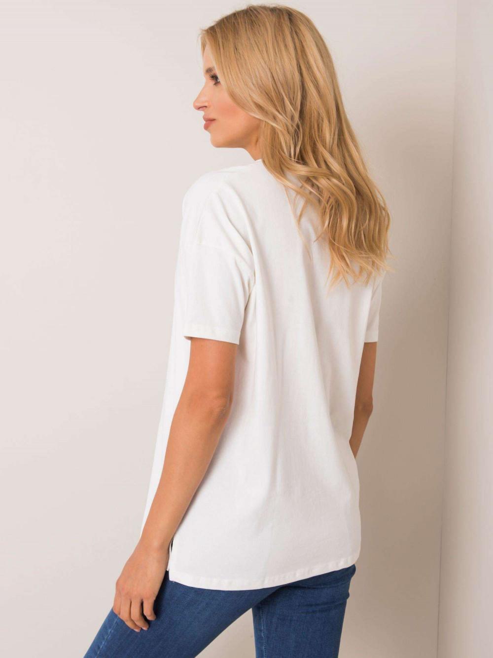 Ecru pro-ekologiczny t-shirt O-Neck Tree 2