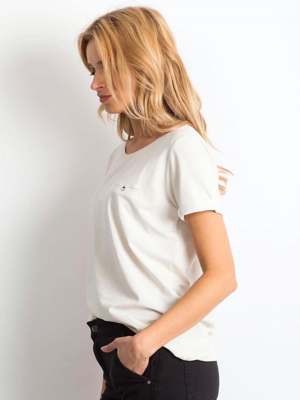 Beżowy t-shirt O-Neck Kasom 3