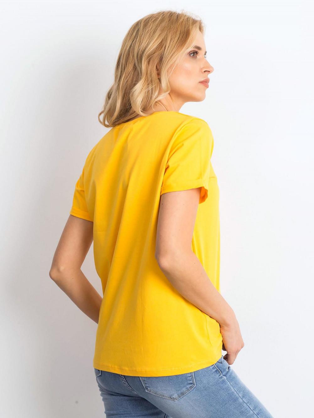 Jasnopomarańczowy t-shirt O-Neck Kasom 4