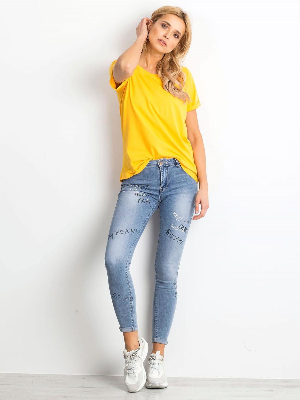 Jasnopomarańczowy t-shirt O-Neck Kasom 3