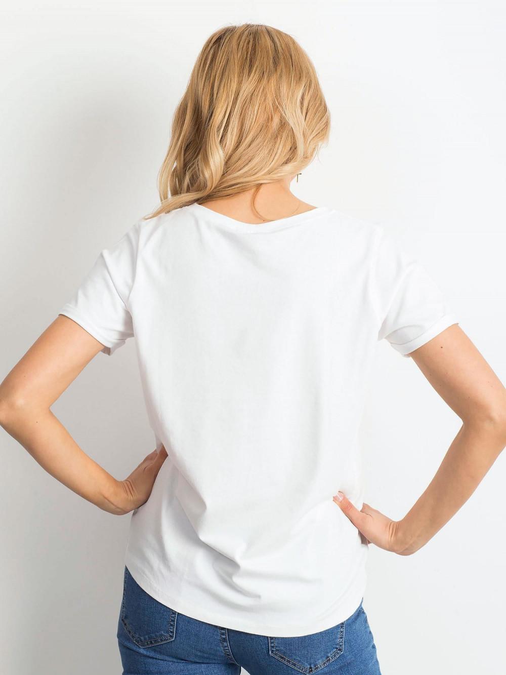 Biały t-shirt O-Neck Kasom 4