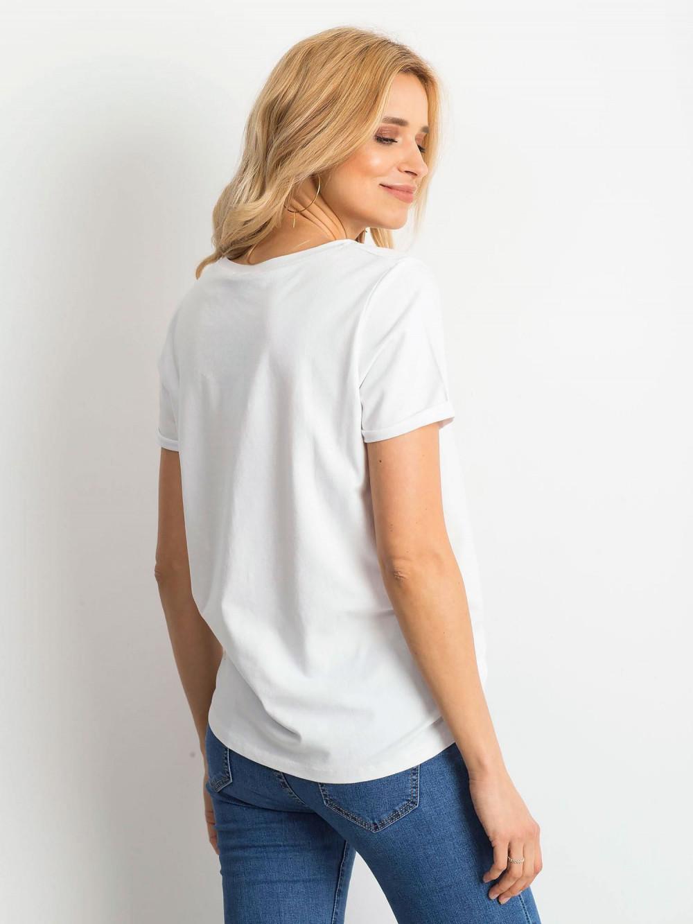 Biały t-shirt O-Neck Kasom 2