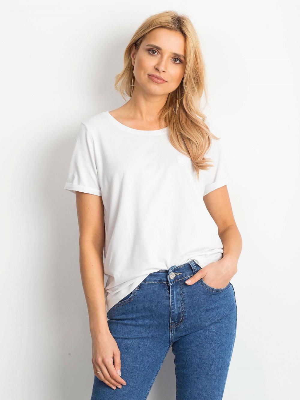 Biały t-shirt O-Neck Kasom 1