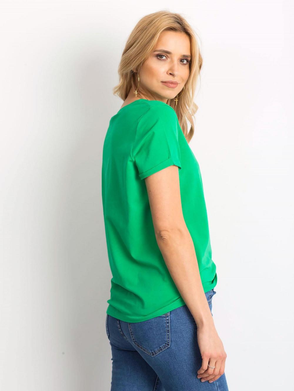 Zielony t-shirt O-Neck Kasom 4
