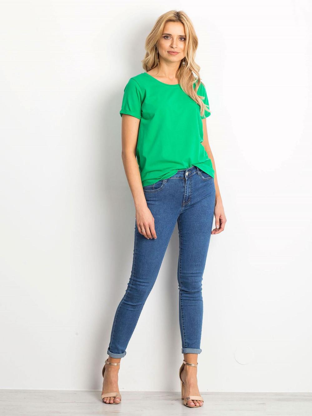 Zielony t-shirt O-Neck Kasom 3