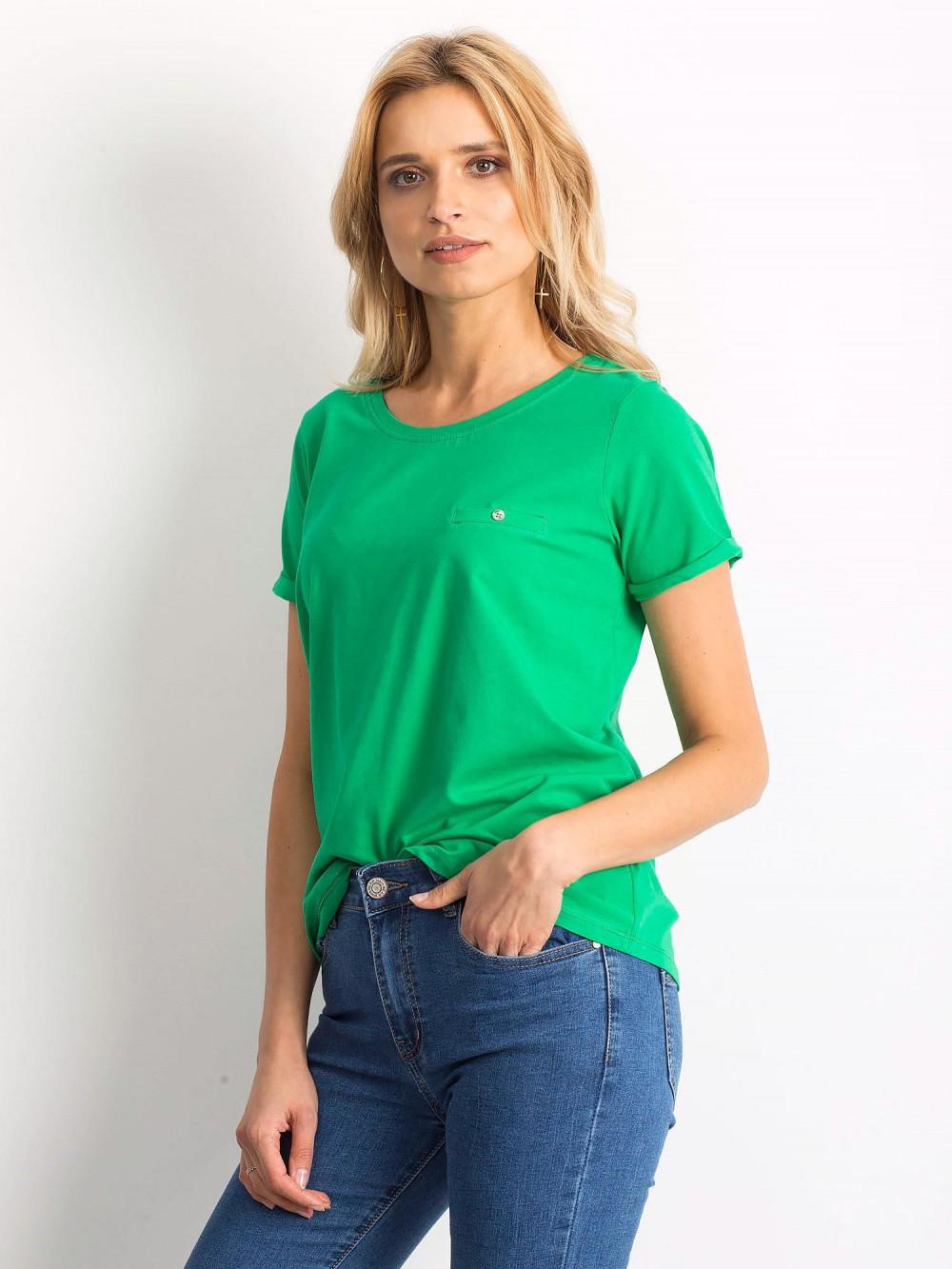 Zielony t-shirt O-Neck Kasom 2