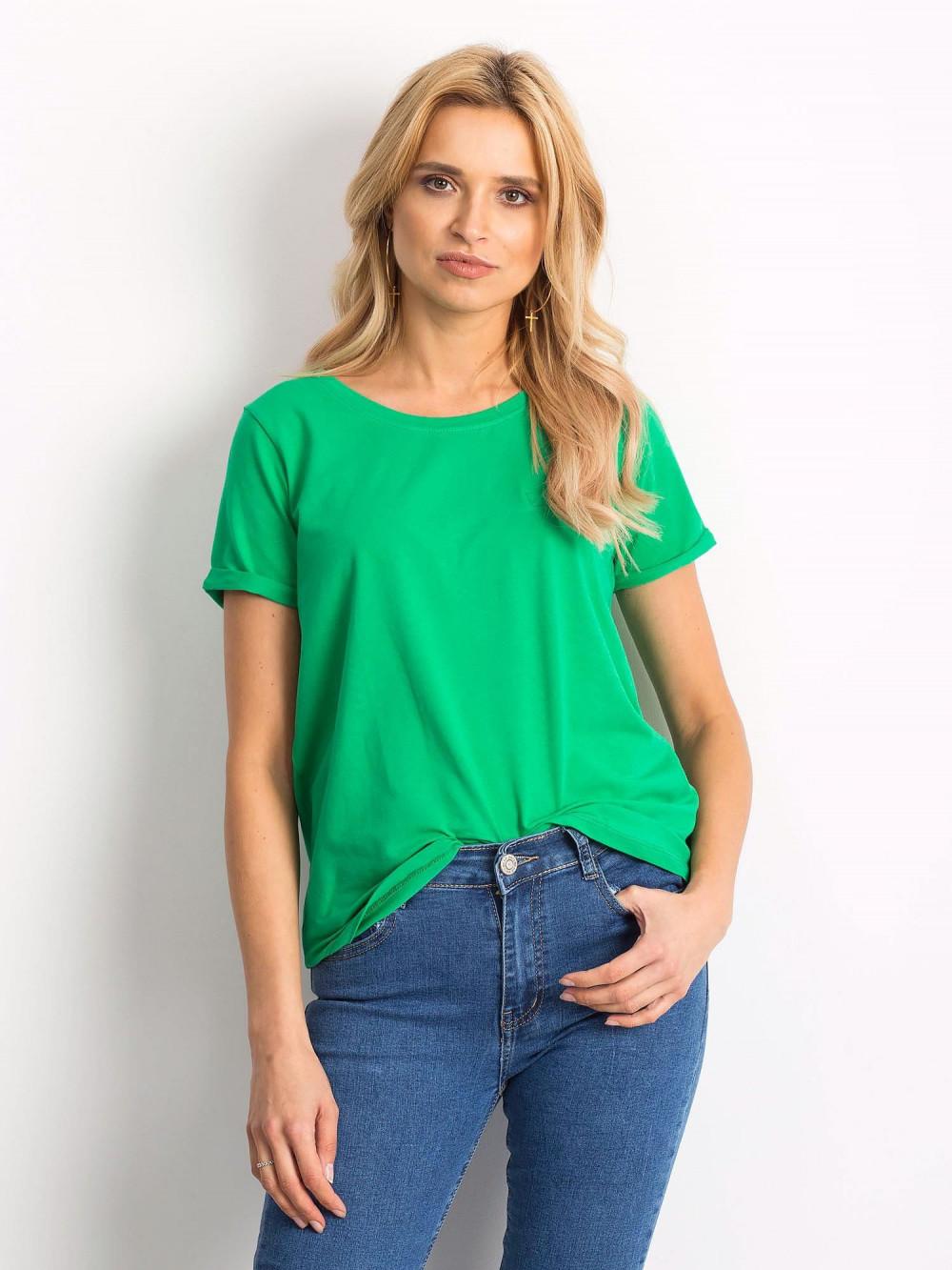 Zielony t-shirt O-Neck Kasom 1