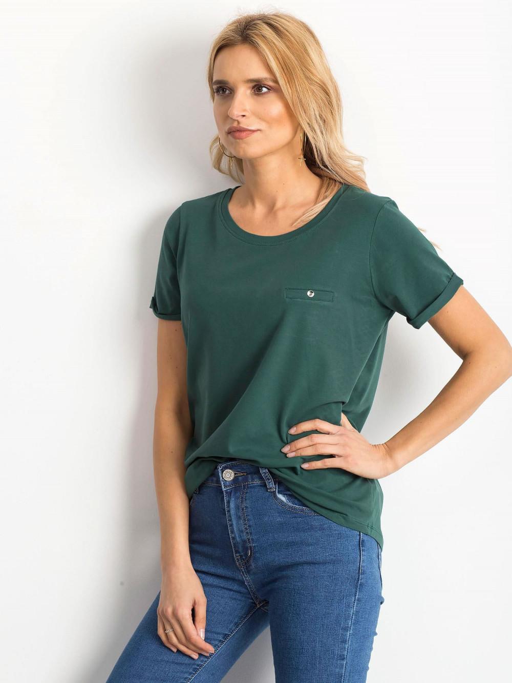 Ciemnozielony t-shirt O-Neck Kasom 2