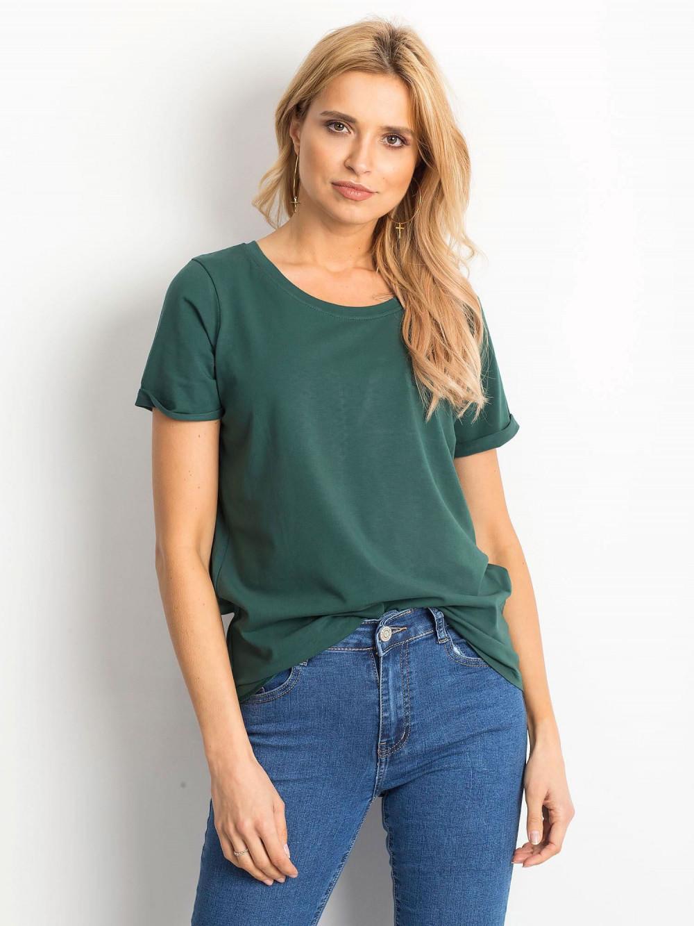Ciemnozielony t-shirt O-Neck Kasom 1