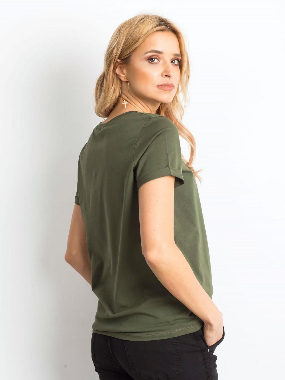 Khaki t-shirt O-Neck Kasom 4