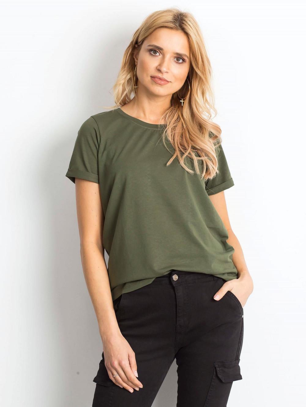 Khaki t-shirt O-Neck Kasom 1