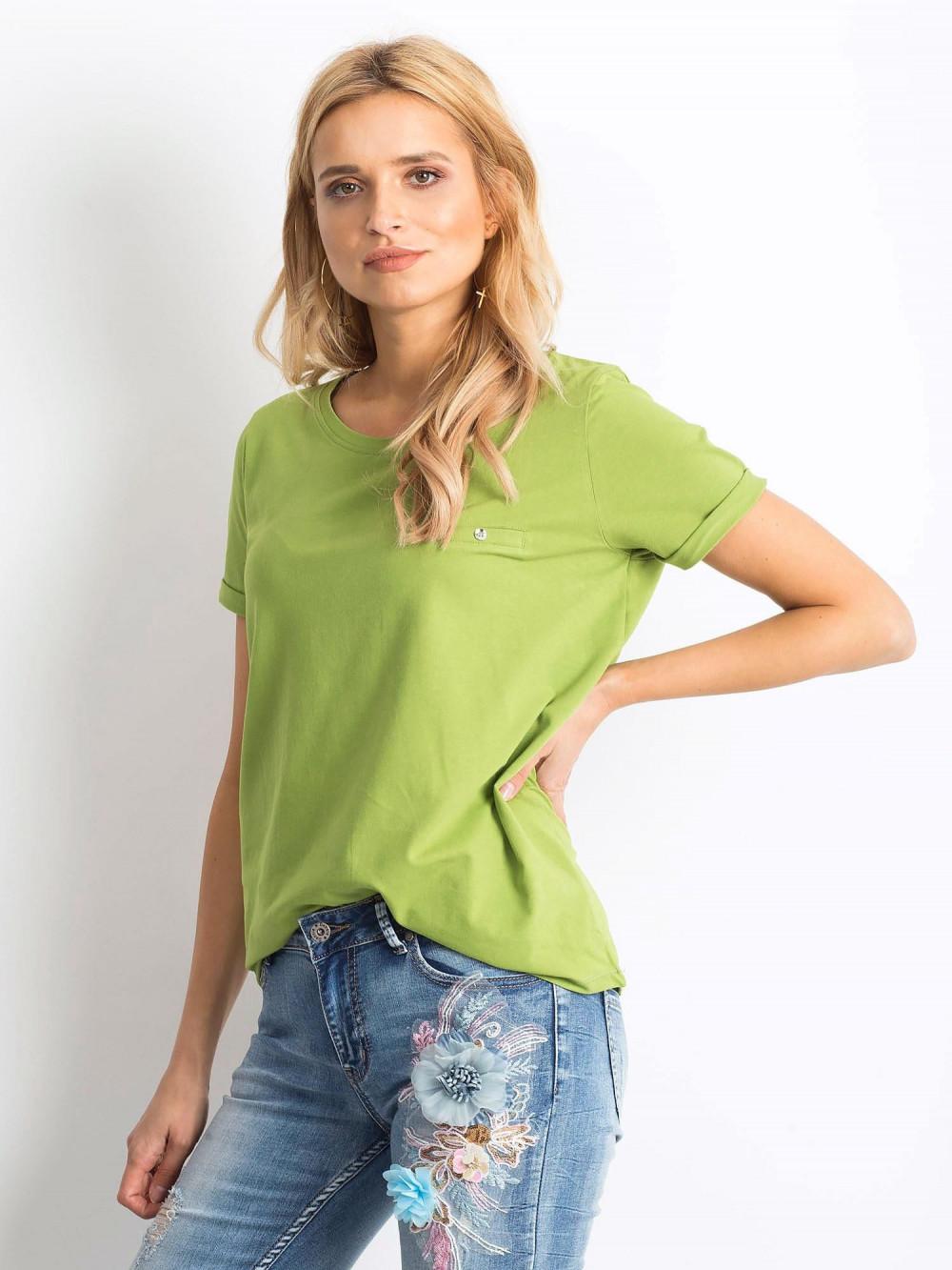 Jasnozielony t-shirt O-Neck Kasom 2