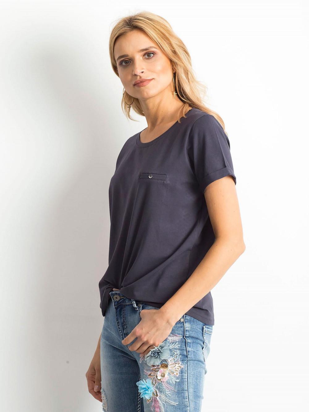 Grafitowy t-shirt O-Neck Kasom 2