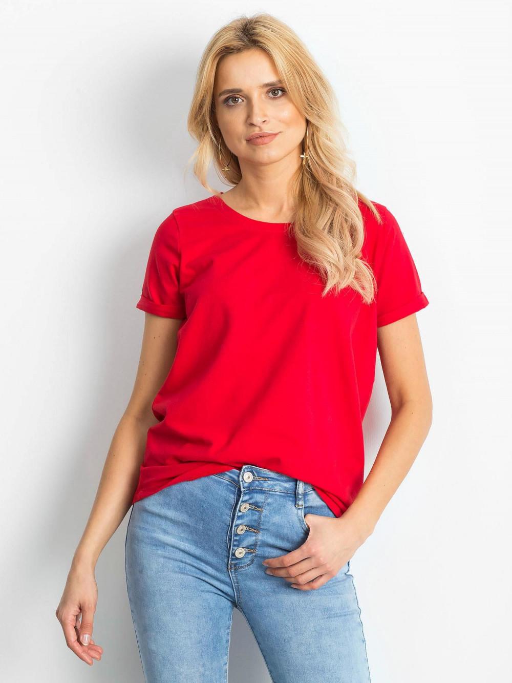 Czerwony t-shirt O-Neck Kasom 1