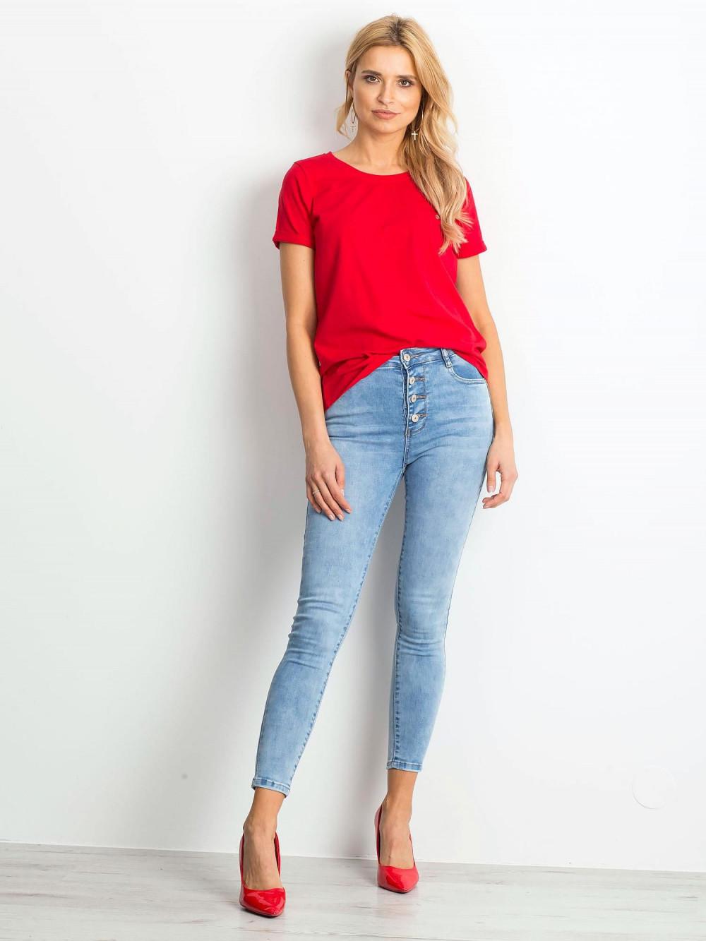 Czerwony t-shirt O-Neck Kasom 3