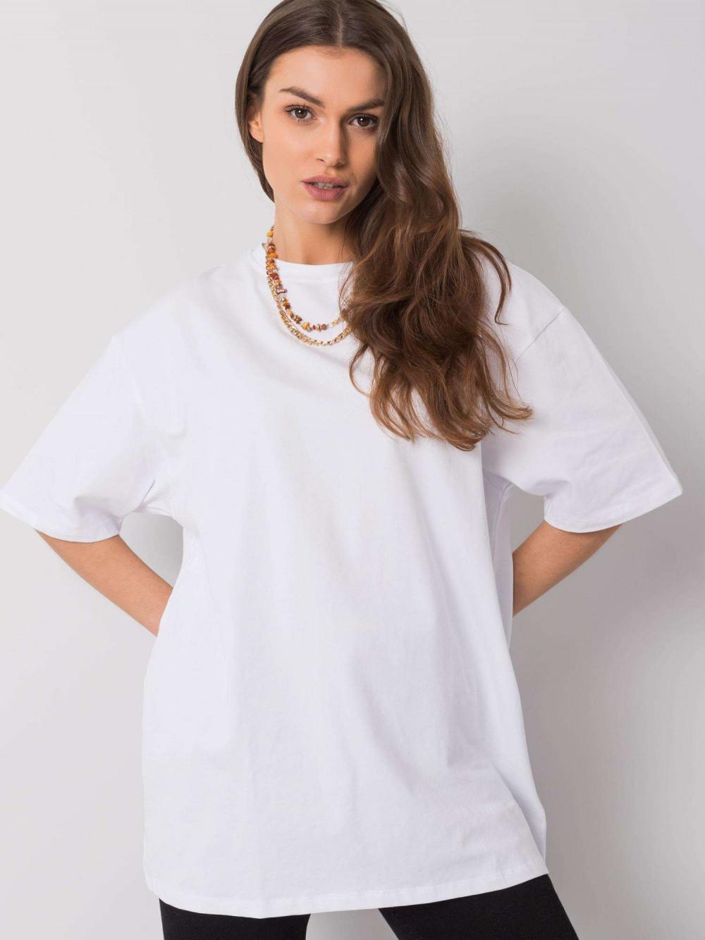 Biały luźny t-shirt oversize Damage 1