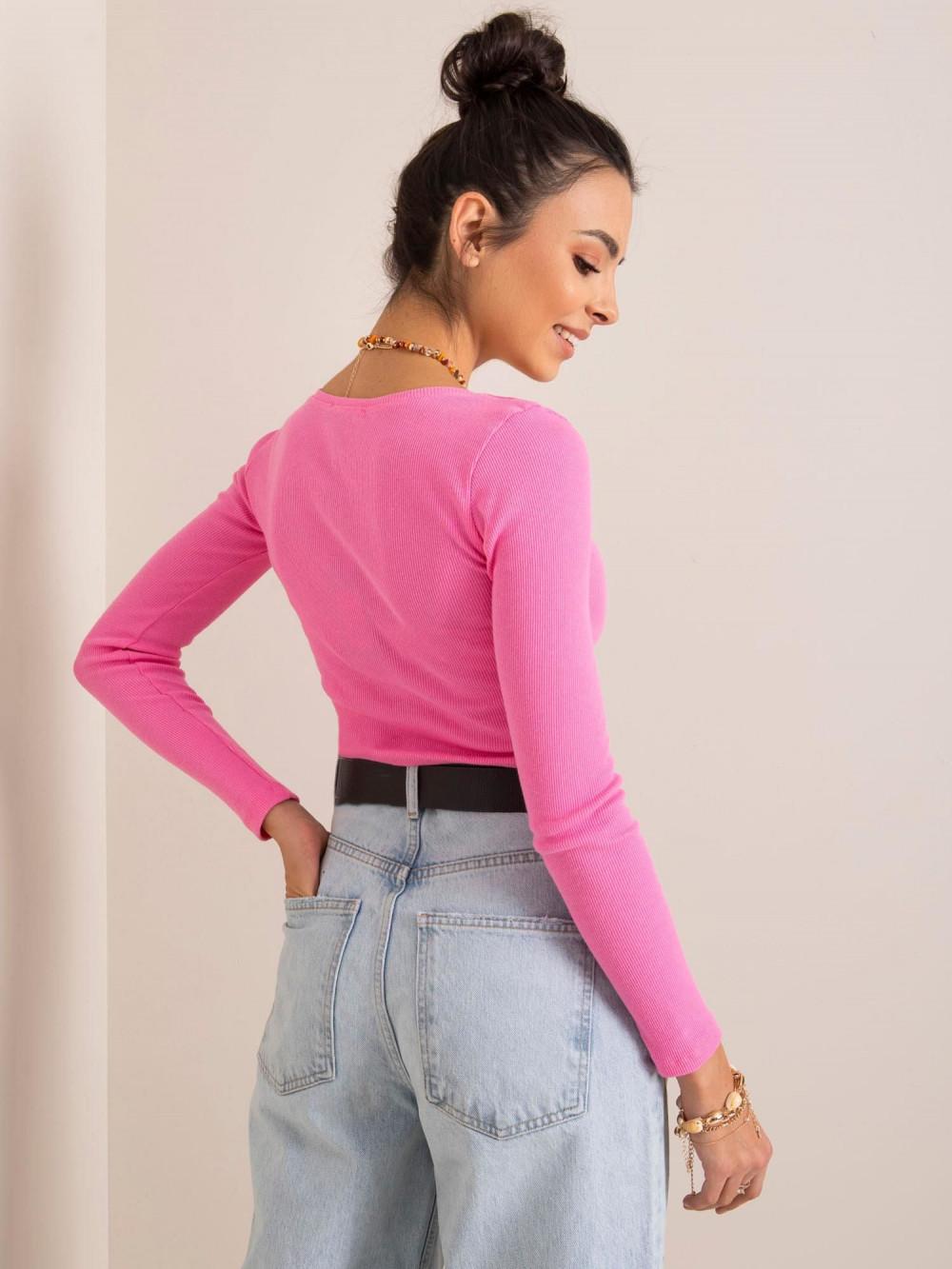 Różowa bluzka crop top Poissy 4