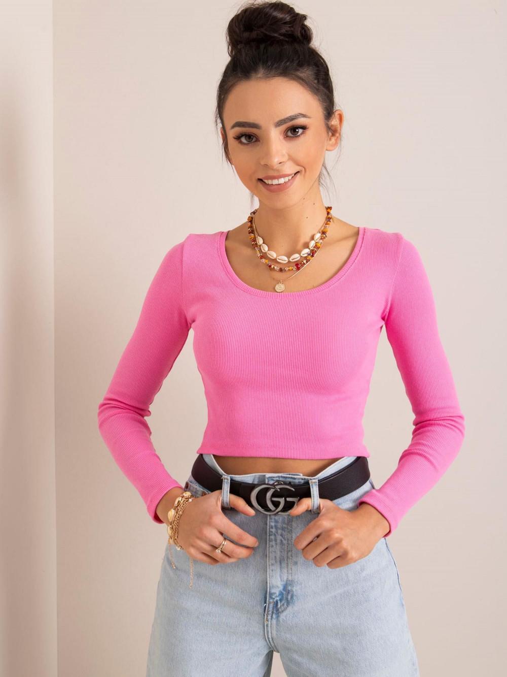 Różowa bluzka crop top Poissy 1