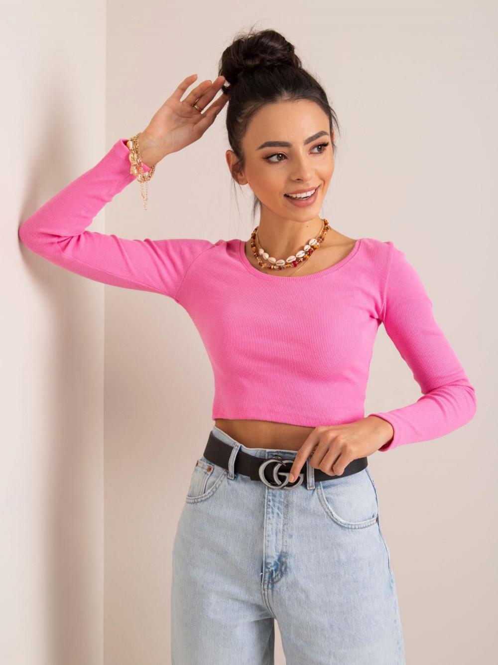 Różowa bluzka crop top Poissy 2