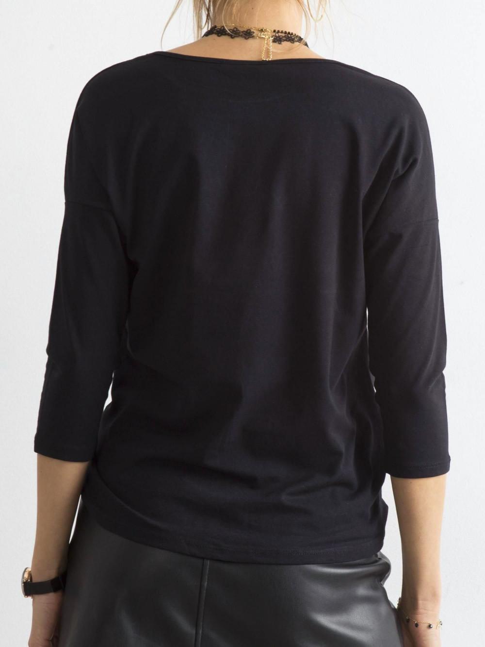 Czarna gładka bluzka Summer 4