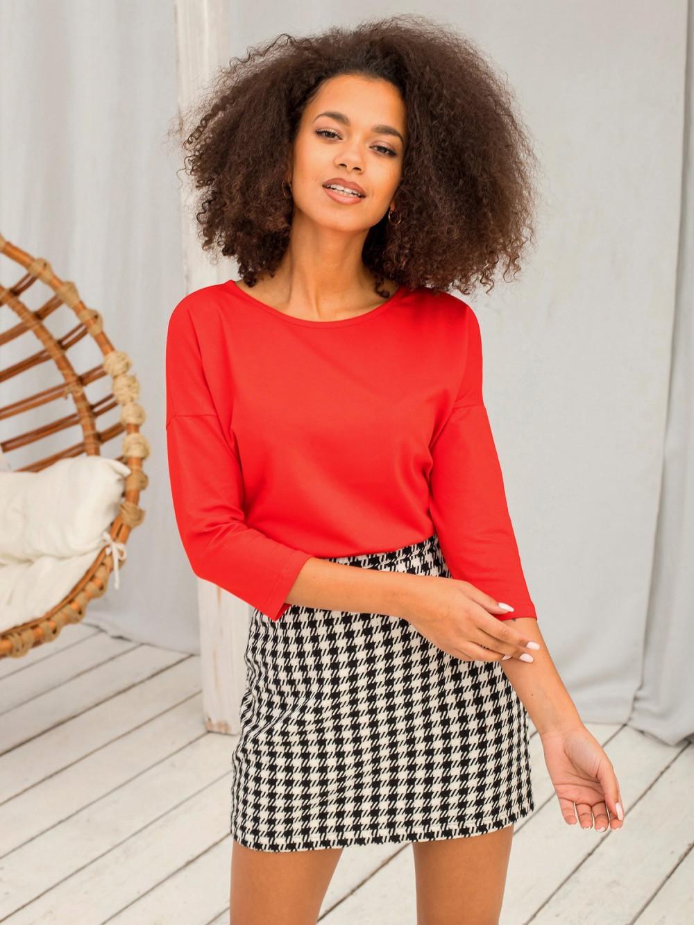 Czerwona gładka bluzka Summer 2