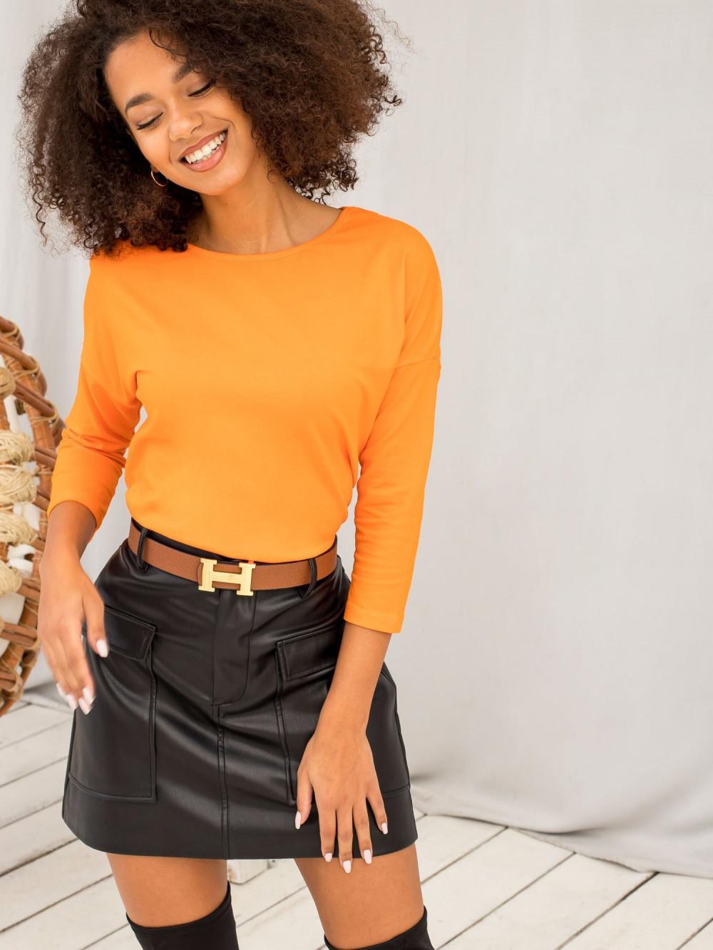 Pomarańczowa gładka bluzka Summer 3