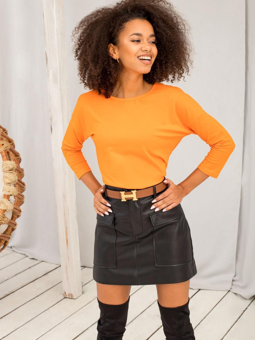 Pomarańczowa gładka bluzka Summer 4