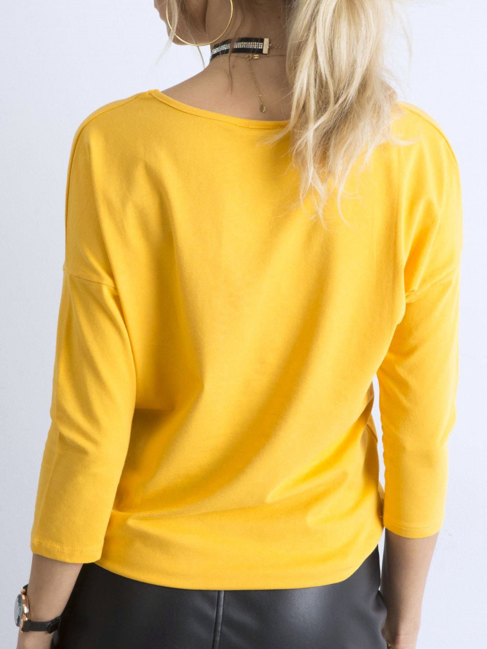 Ciemnożółta gładka bluzka Summer 4