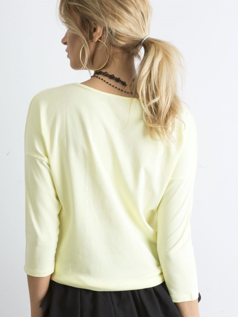 Jasnożółta gładka bluzka Summer 3