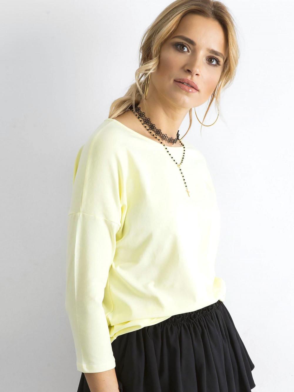 Jasnożółta gładka bluzka Summer 2