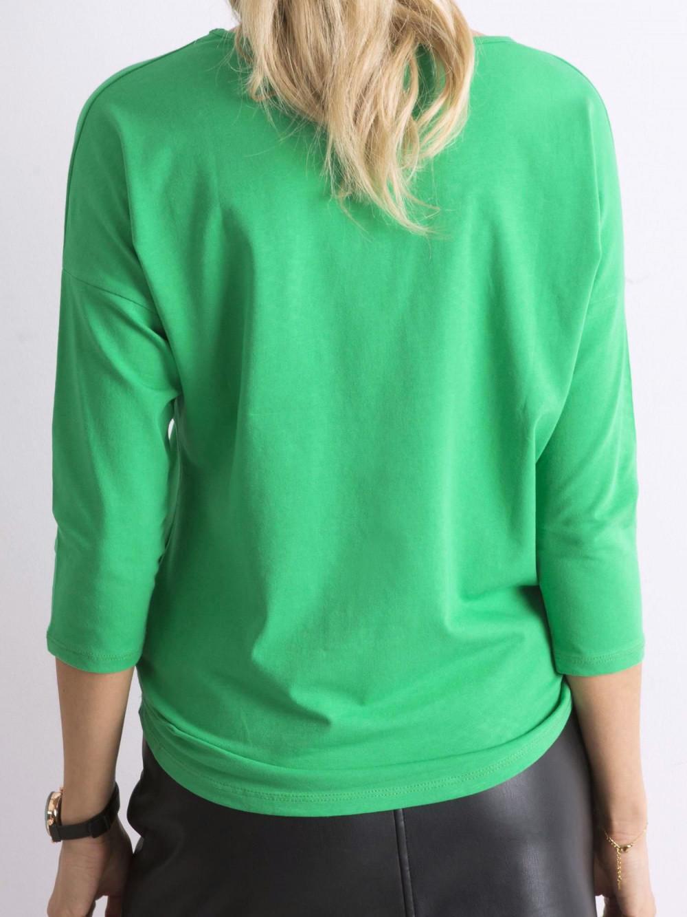 Zielona gładka bluzka Summer 4