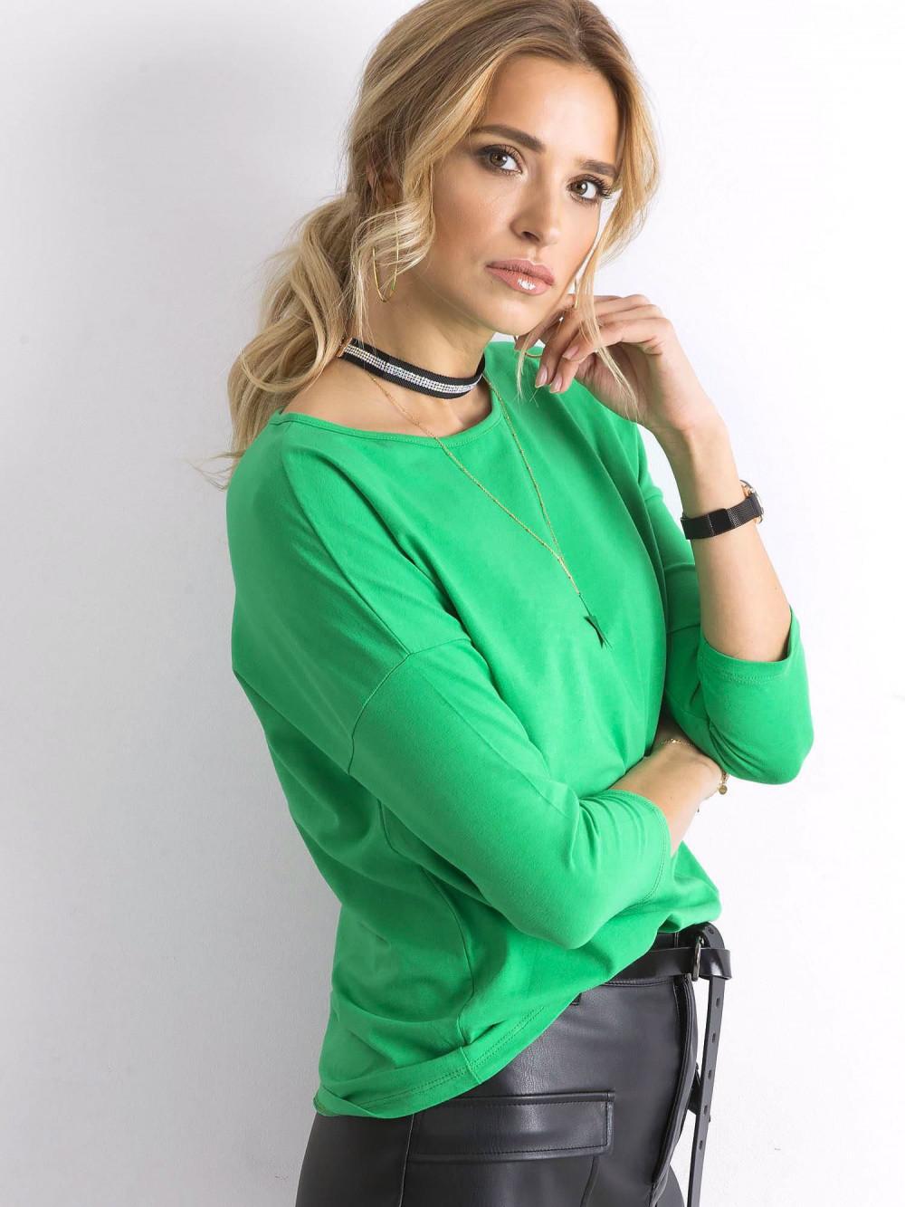 Zielona gładka bluzka Summer 2