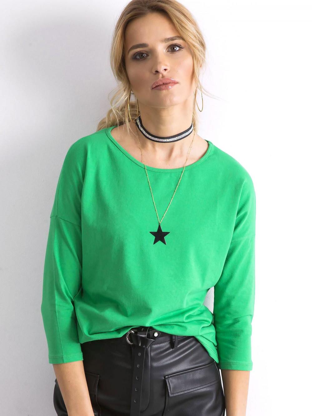 Zielona gładka bluzka Summer 1