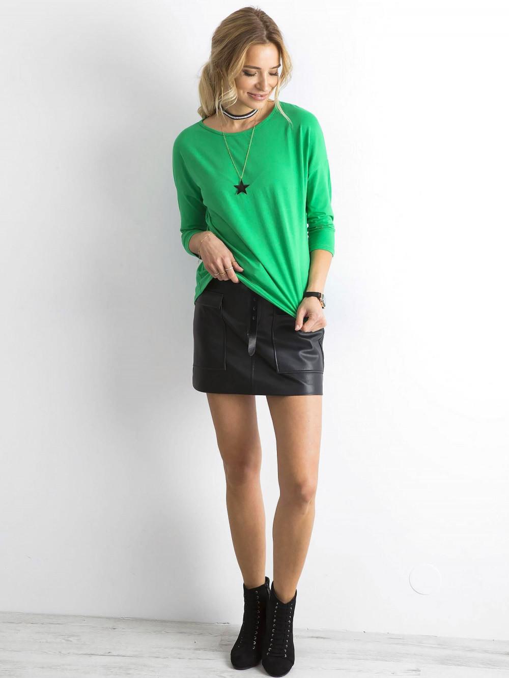 Zielona gładka bluzka Summer 3