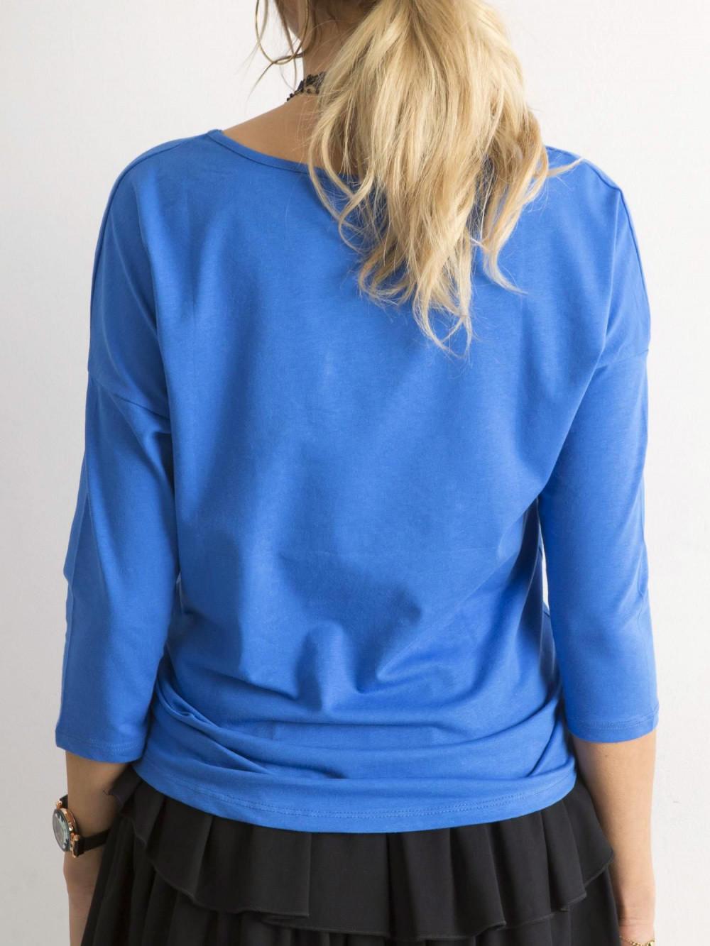 Niebieska gładka bluzka Summer 4