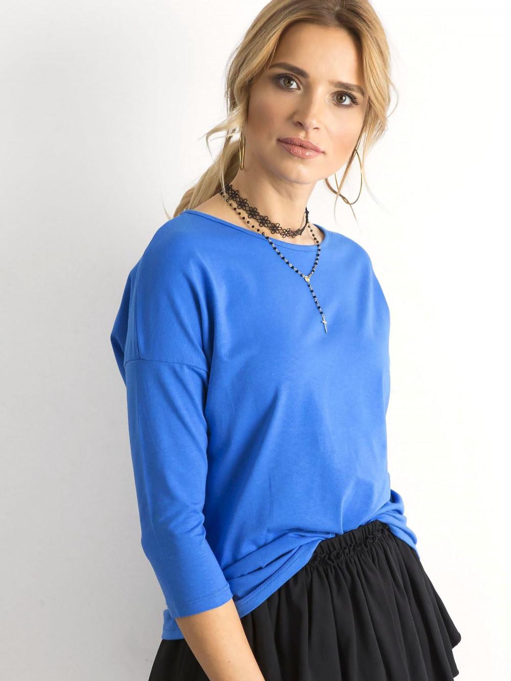 Niebieska gładka bluzka Summer 2
